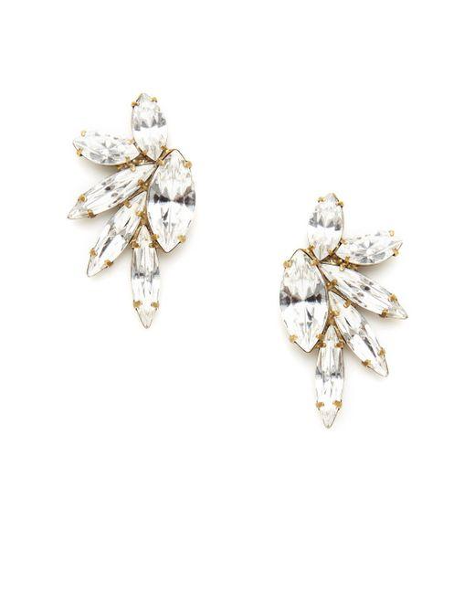 Elizabeth Cole | Metallic Mareko Earring Crystal | Lyst