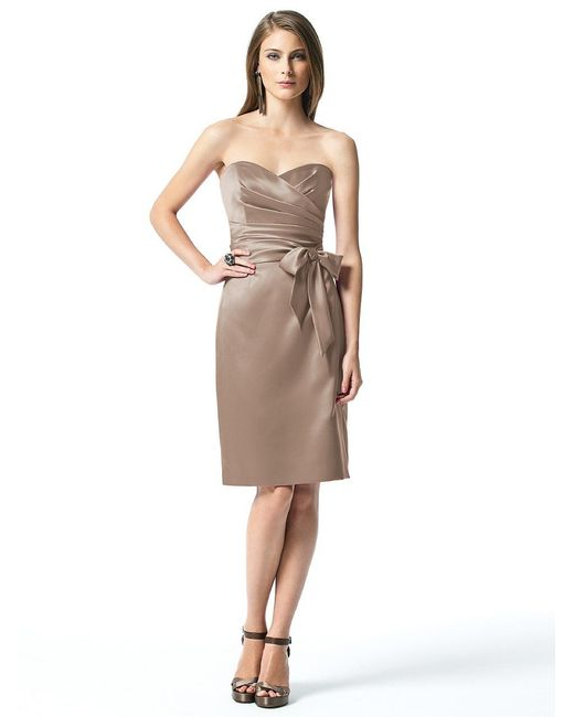 Dessy Collection | Brown Dress In Topaz | Lyst