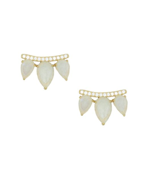 Rachael Ryen - Multicolor Gemstone Wing Studs - Moonstone - Lyst