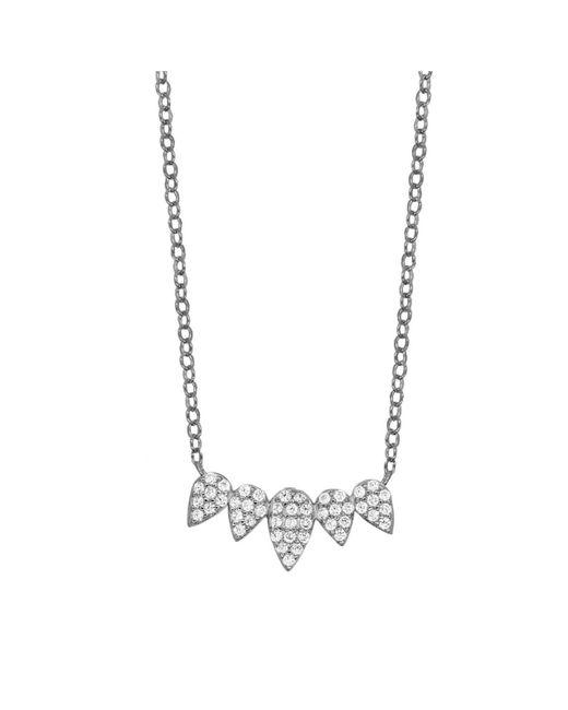 Rachael Ryen | Metallic Petal Bar Necklace | Lyst