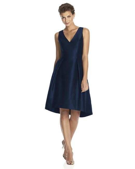 Alfred Sung - Blue D Bridesmaid Dress In Midnight - Lyst