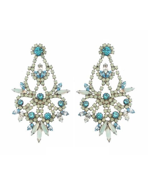 Elizabeth Cole | Blue Indira Earring | Lyst