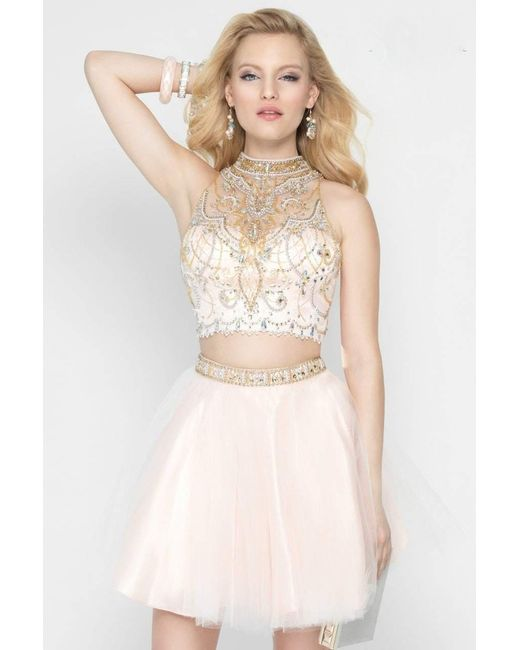 Alyce Paris - 46530 Dress In Ivory Ice Pink - Lyst