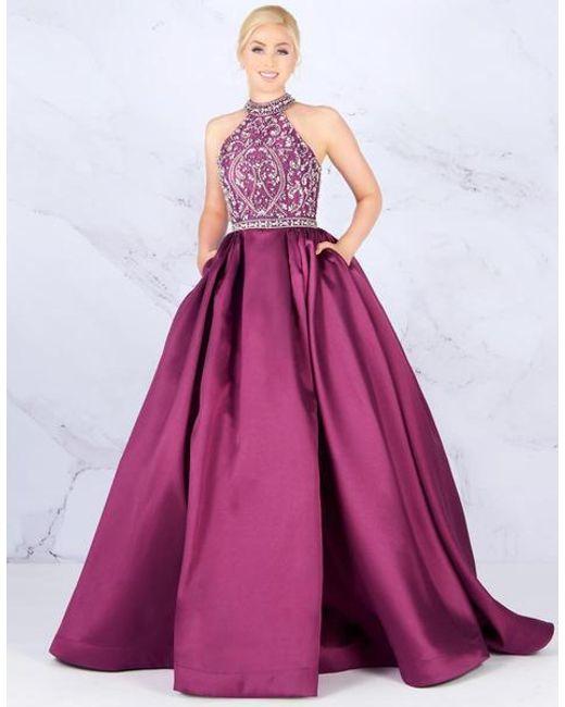 779356ab87c4 Mac Duggal - Pink Ballgowns - 67658h Embellished Halter Neck Ballgown - Lyst