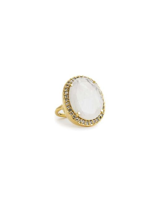 Margaret Elizabeth | White Ophelia Cocktail Ring Moonstone | Lyst