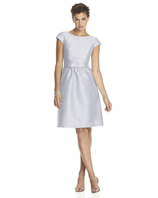 Alfred Sung - White D Bridesmaid Dress In Dove - Lyst