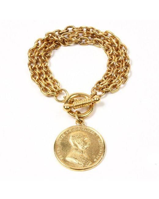 Ben-Amun - Metallic Moroccan Coin Charm Bracelet - Lyst