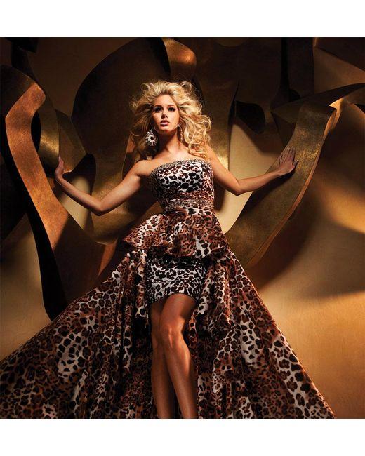 Mon Cheri | Brown Tb Evenings By - Tbe Dress In Leopard | Lyst
