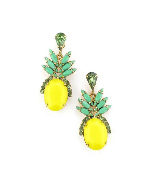 Elizabeth Cole - Yellow Ananas Earrings - Lyst