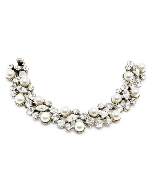 Ben-Amun - White Pearl And Crystal Bracelet - Lyst