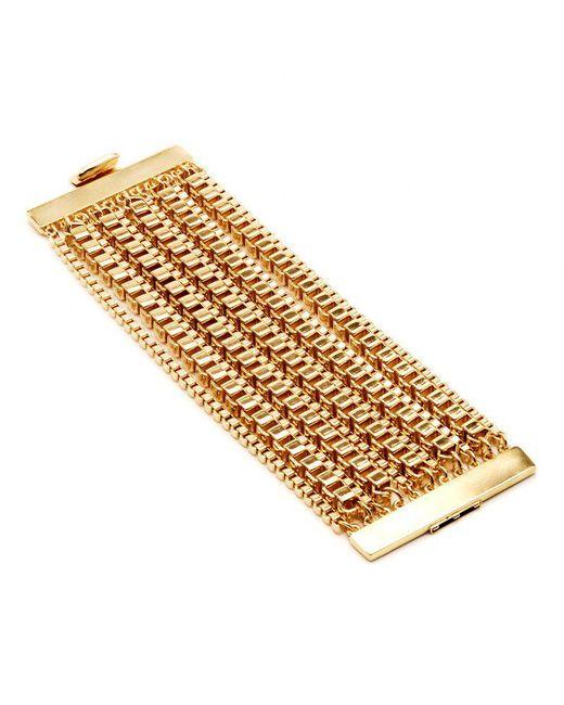 Ben-Amun - Metallic Industrial Gold Box Chain Bracelet - Lyst