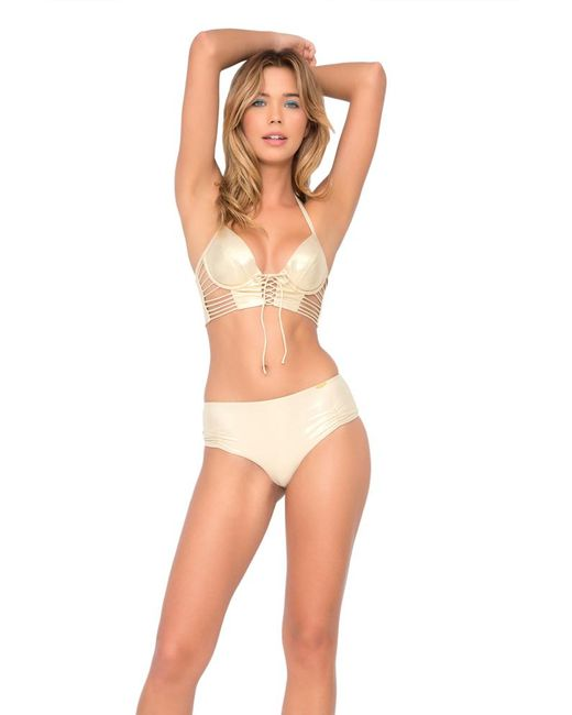 Luli Fama - Natural Cosita Buena Something Sexy Underwire Corset In Gold Rush (l) - Lyst