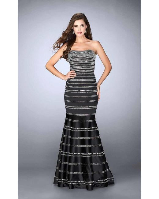 Rhinestone Embellished Prom Dresses
