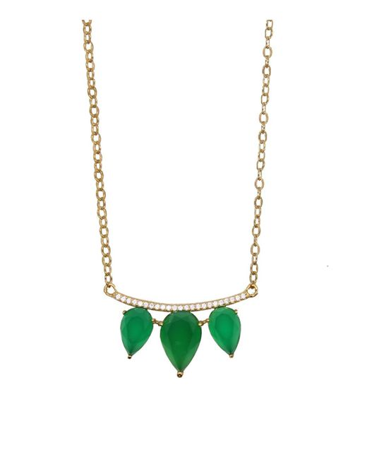 "Rachael Ryen - Black Gemstone ""wings"" Necklace - Green Onyx - Lyst"