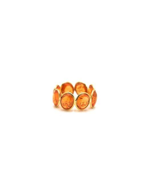 Trésor   Multicolor Mandarine Garnet Stackable Ring Band In K Yellow Gold   Lyst