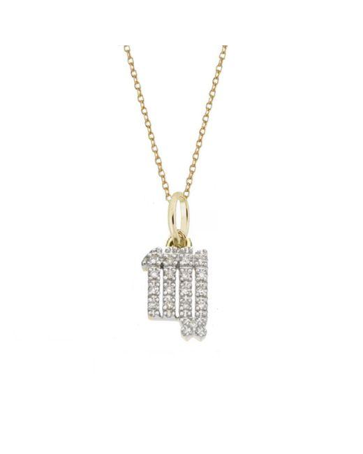 Rachael Ryen - Metallic Virgo Diamond Zodiac Charm Necklace - Lyst