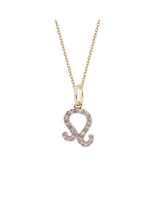 Rachael Ryen - Metallic Leo Diamond Zodiac Charm Necklace - Lyst