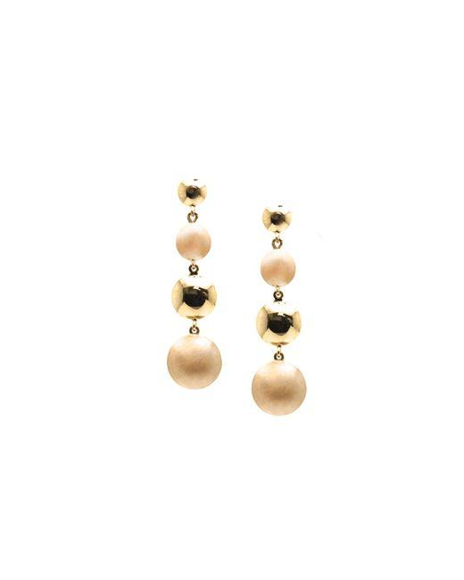 Trésor - Metallic Lente Tier Earrings In K With Satin And Shiny Finish - Lyst