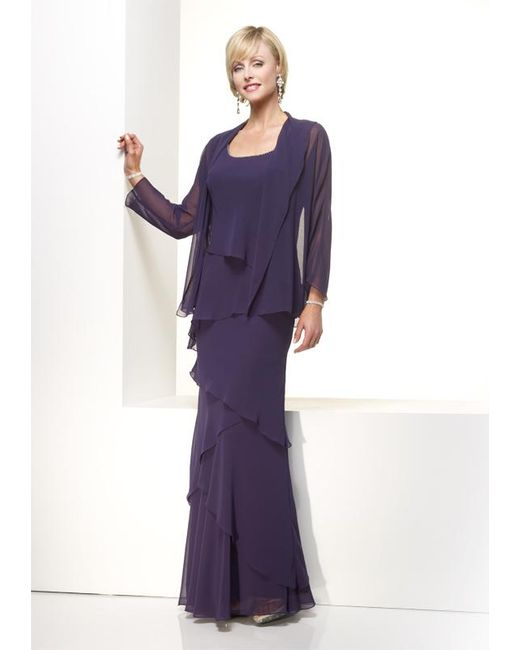 Lyst Alyce Paris Mother Of The Bride Dress In Eggplant