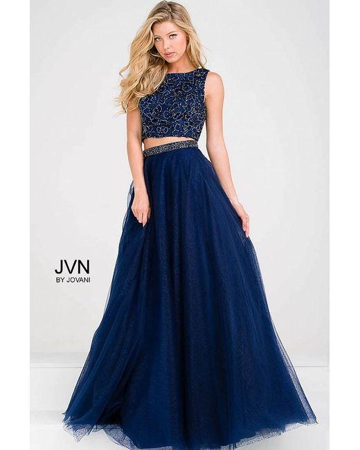 Jovani - Blue Embellished Bodice Two Piece Prom Ballgown Jvn - Lyst