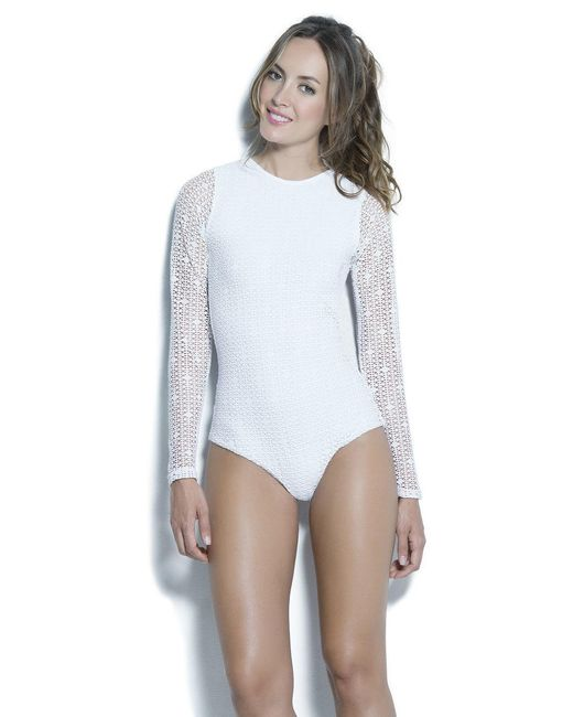 Estivo Swimwear | Multicolor High Neck Open Back & Long Sleeves One Piece M/pop/ | Lyst