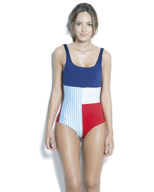 Estivo Swimwear - Multicolor Removable Cups & Tummy Control Contrast One Piece /new/ - Lyst