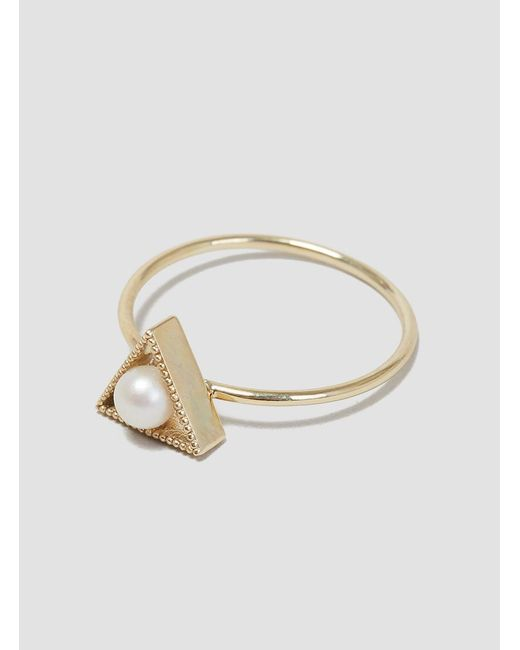 Grace Lee - Metallic Triangle Pearl Ring - Lyst