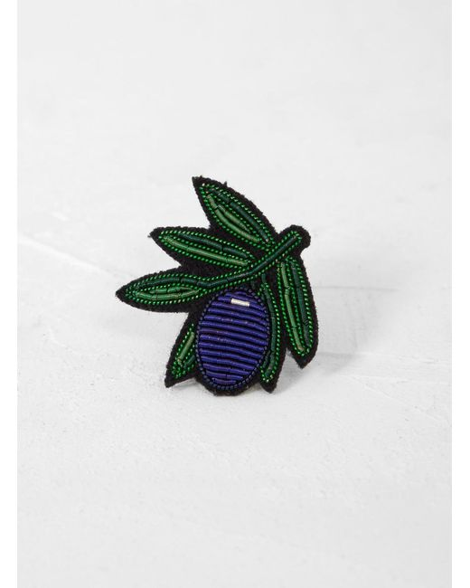 Macon & Lesquoy - Green Olive Brooch - Lyst