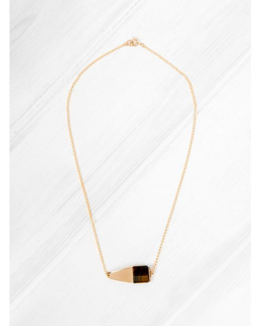 Helena Rohner - Multicolor Tigers Eye Square Necklace - Lyst