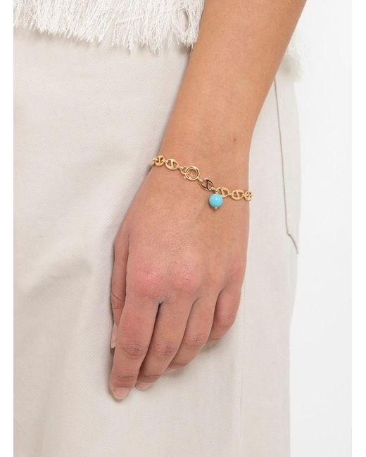 Helena Rohner | Multicolor Oval Link Bracelet With Stone Bead | Lyst