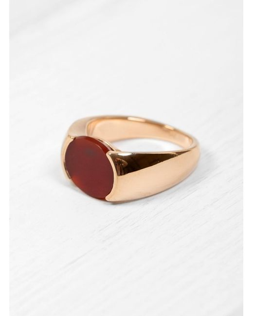 Helena Rohner | Multicolor Oval Cornelian Signet Ring | Lyst