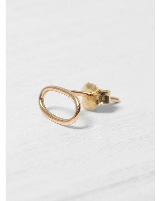 Helena Rohner - Metallic 18k Oval Wire Earring - Lyst