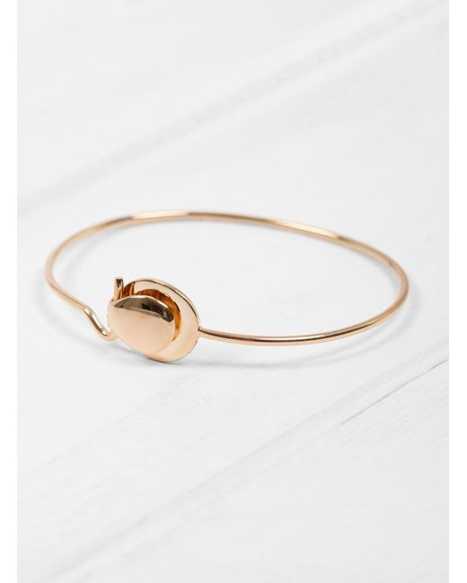 Helena Rohner - Multicolor Folded Clasp On Wire Bangle - Lyst