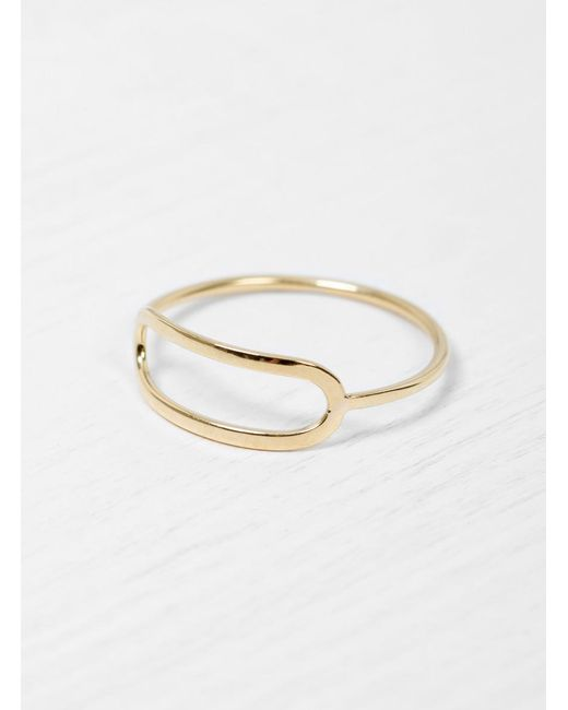 Helena Rohner | Metallic 18k Gold Wire Ring | Lyst