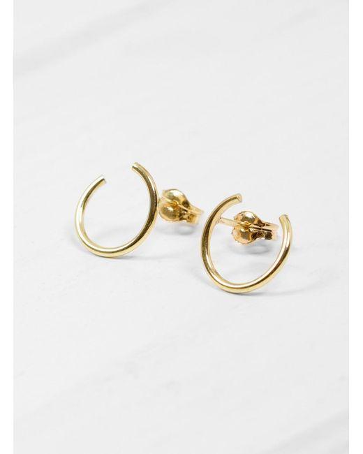 Helena Rohner | Metallic 18k Gold Hoop Wire Earrings | Lyst