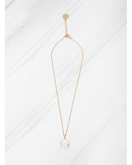 Mila Marin   Brown Amulet Mother Of Pearl Necklace   Lyst