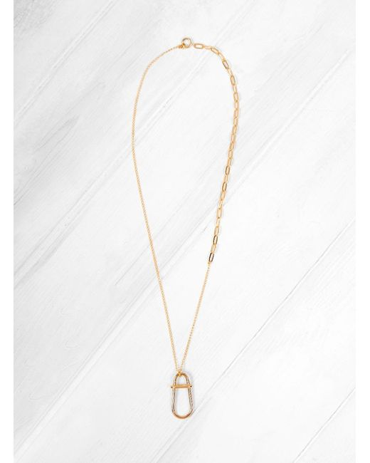 Helena Rohner - Metallic Gold Plated Brass Link Necklace - Lyst