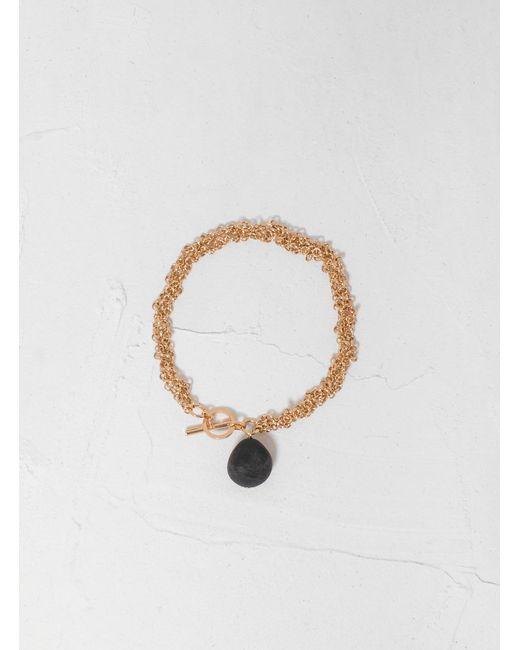 Helena Rohner - Metallic Braided Chain Bracelet W Bead - Lyst