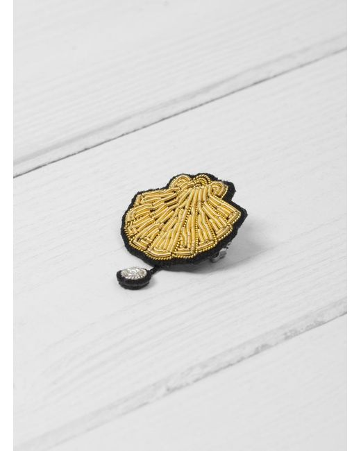 Macon & Lesquoy | Metallic Scallop Brooch | Lyst