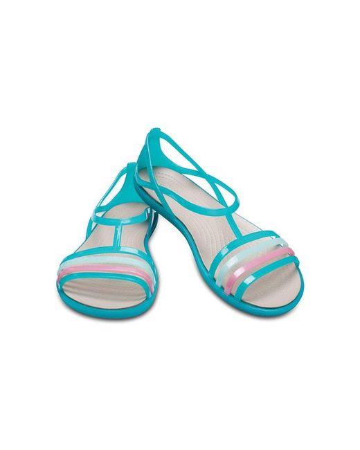 e13f1857f7da ... Crocs™ - Blue Isabella Sandal - Lyst ...