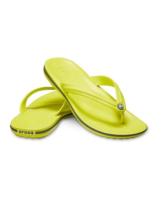 7a3211ce65aa ... Crocs™ - Yellow And Crocband Flip Flop