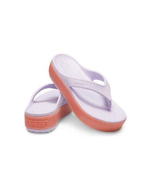 4f3aad20e227 ... Crocs™ - Purple Crocband Platform Flip - Lyst ...