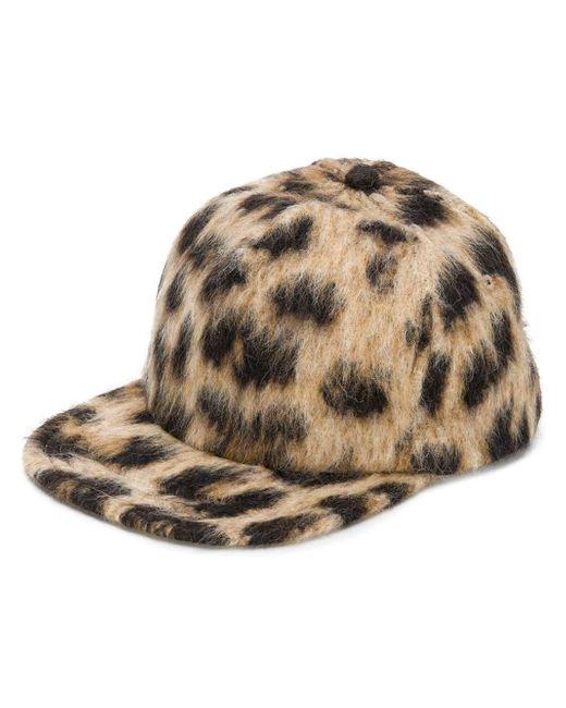R13 - Brown Leopard Print Wool Baseball Cap - Lyst
