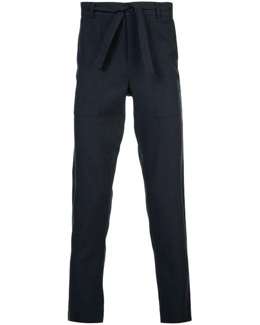 Stephan Schneider - Blue Wool Cotton Trousers for Men - Lyst