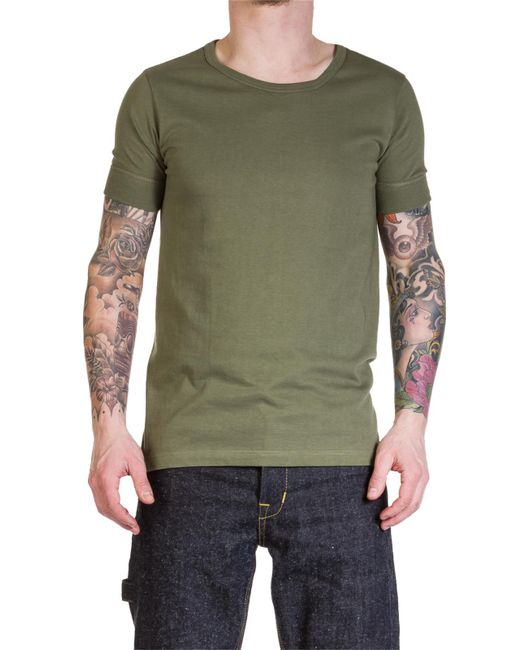 Merz B. Schwanen - Green 1960s Army Tee Army for Men - Lyst