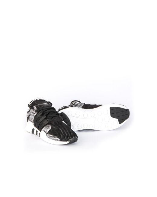 Lyst adidas Originals EQT Support ADV primeknit negro / blanco en