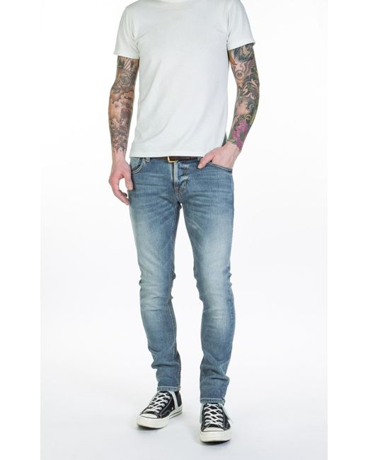 ... Nudie Jeans - Blue Nudie Jeans Tight Terry Subtle Beat for Men - Lyst