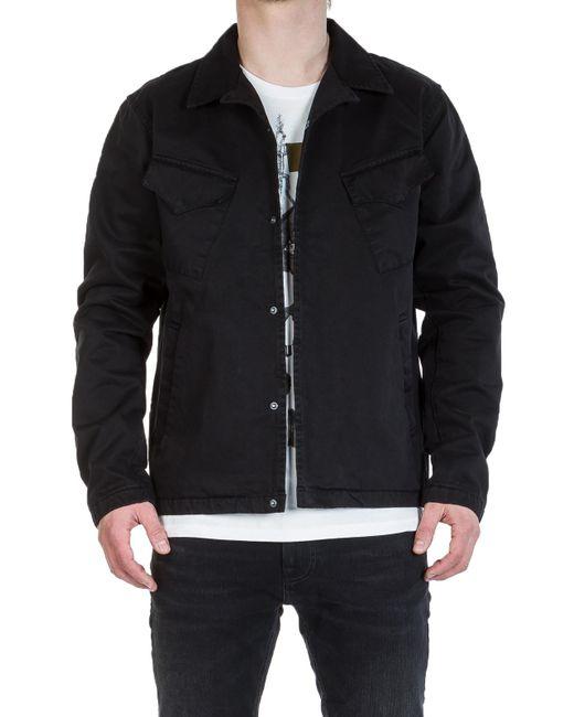 Nudie Jeans - Nudie Jeans Klas Coach Jacket Black for Men - Lyst