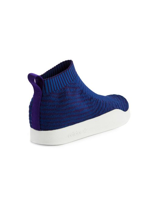 adidas originali adilette pk calzino blu in blu per gli uomini lyst