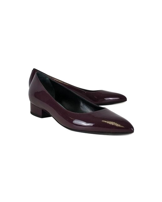 Lanvin - Purple Plum Patent Leather Flats - Lyst